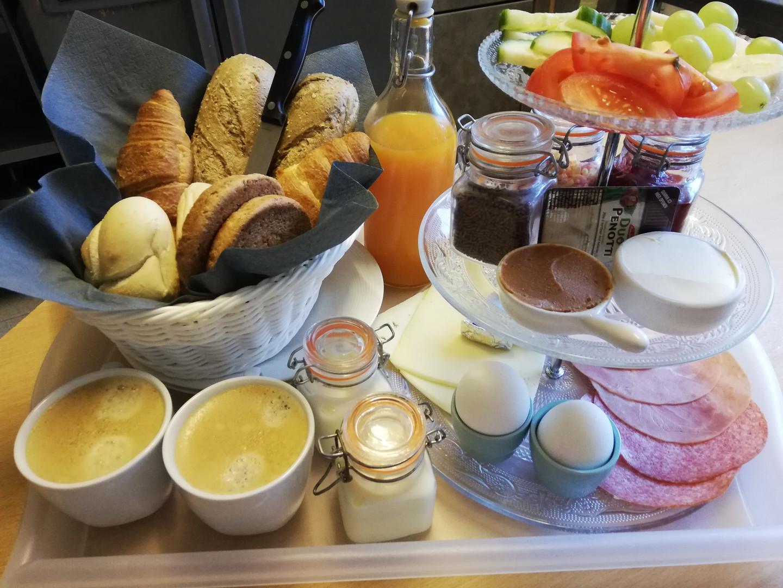 Ontbijt op bed ook mogelijk