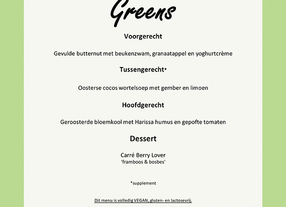 Menu l The Culinary Greens