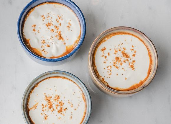 Bisque van Noordzeegarnalen 'cappuccino'