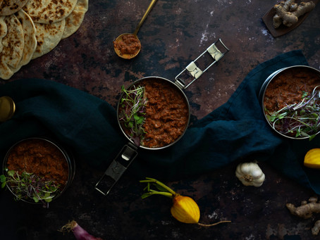 Beetroot Dhal with Grain Free Naan Breads