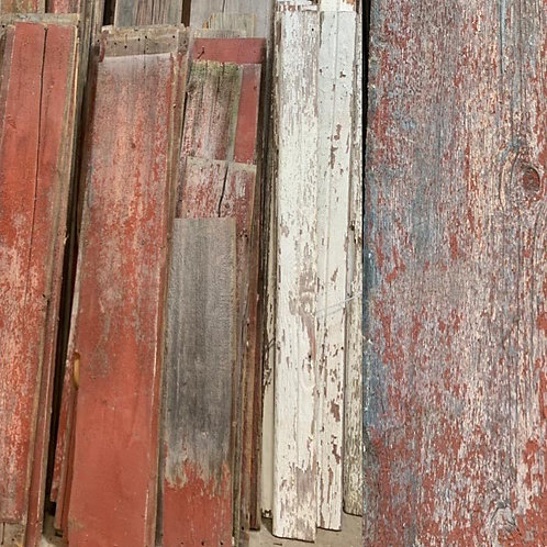 18 Sq Ft of Weathered Red Barn Wood Siding Bundle