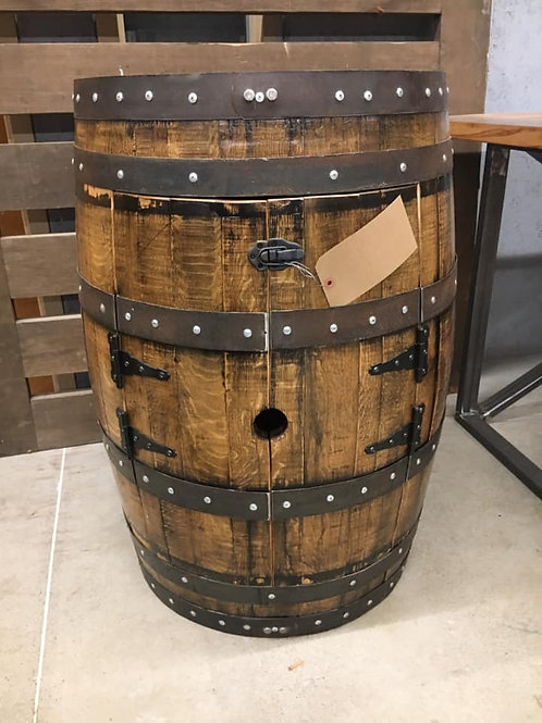Bourbon Barrel Cabinet
