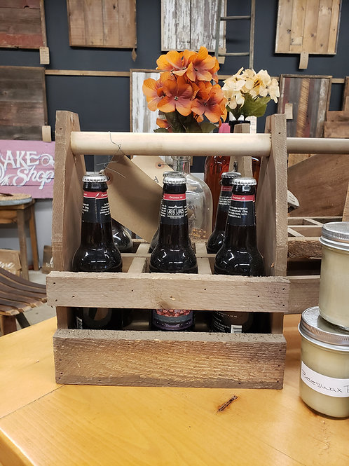 Rustic Farmhouse Beer Caddy