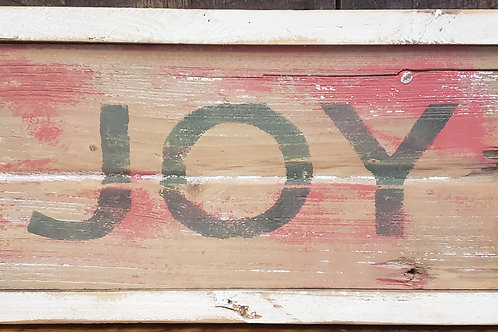 """""""Joy"""" Hand Painted Sign on Reclaimed Barnwoon"""