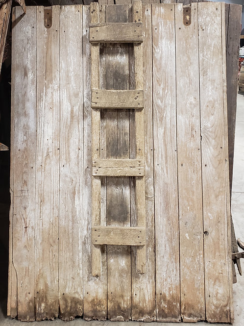 White Washed Barn Door w Ladder attached