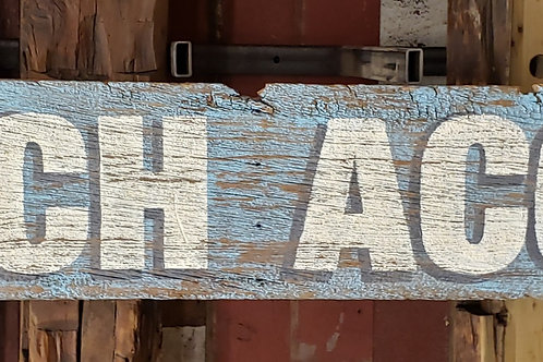 """Large Hand Painted """"Beach Access"""" Sign on Reclaimed Barn Wood"""