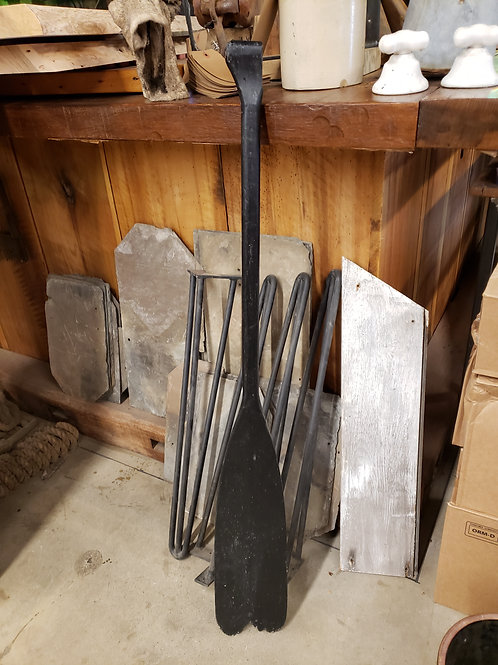 Antique Black Wooden Oar