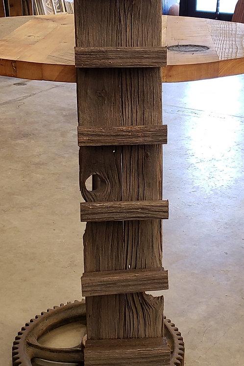 10 Bottle Wine Rack made from Reclaimed Barnwood Dark