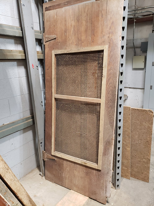 Vintage Barn Door w/ Screen and Hinges