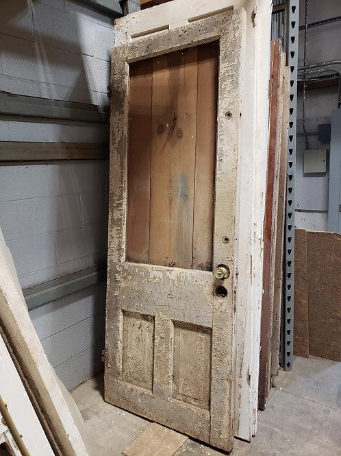 Vintage Chippy White Door w/ Hook