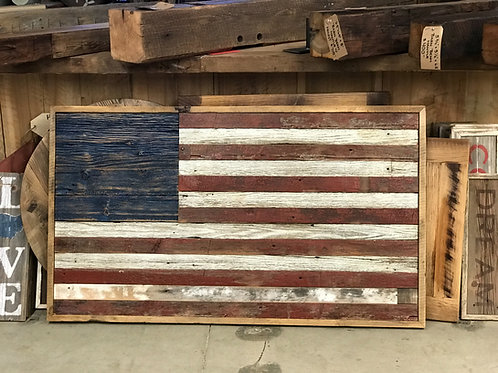 3' x 5' Reclaimed Wood American Flag