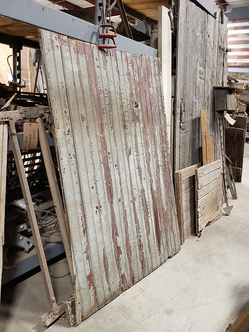 Chippy Unique Red and Blue-ish Barn Door