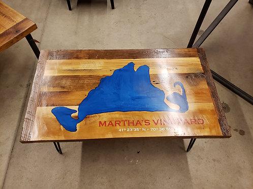 Martha's Vineyard Epoxy Coffee Table w/ Hairpin Legs