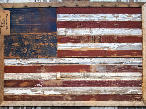 American Flag Hand Painted Rustic Reclaimed Barn Wood