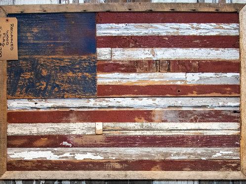 American Flag  Rustic Reclaimed Barn Wood