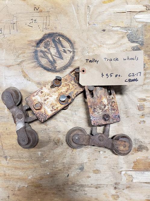 Vintage Trolley Track Wheels