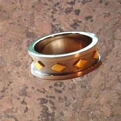 Diamond-Shapes Men's Ring