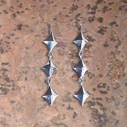 Pyramid Drop Earrings
