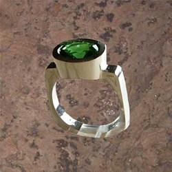 Oval Green Tourmaline Ring