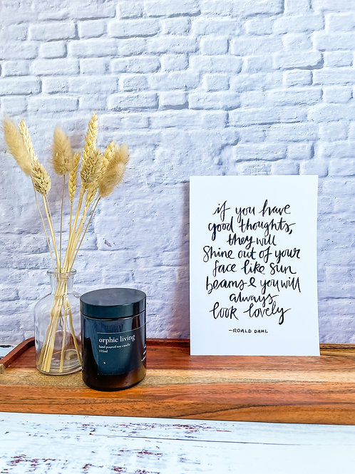 If you have good thoughts - Print