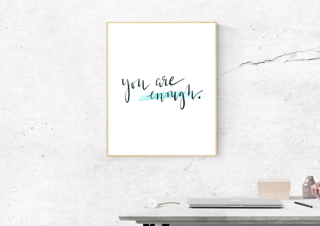 you-are-enough-quote-calligraphy-etsy-wi