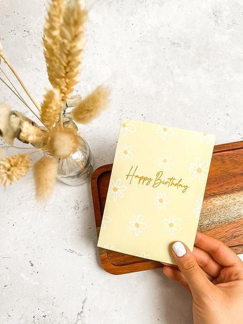 Happy Birthday, Floral - Card
