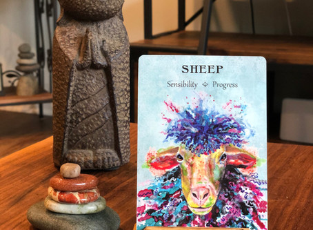 Sheep Spirit Animal oracle card