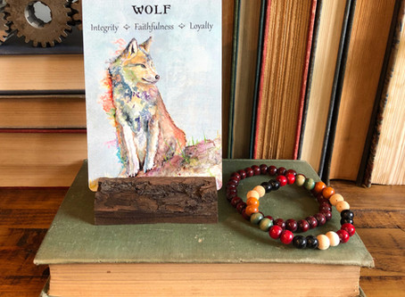 Wolf Spirit Animal Oracle Card
