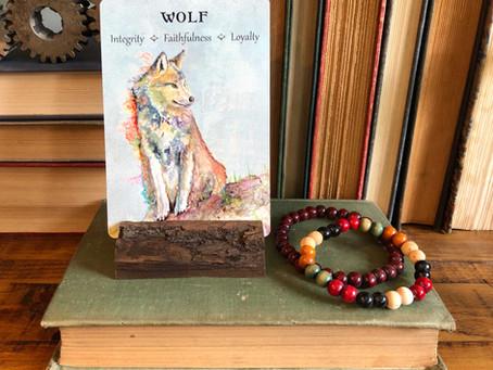Wolf Spirit Animal Oracle Card