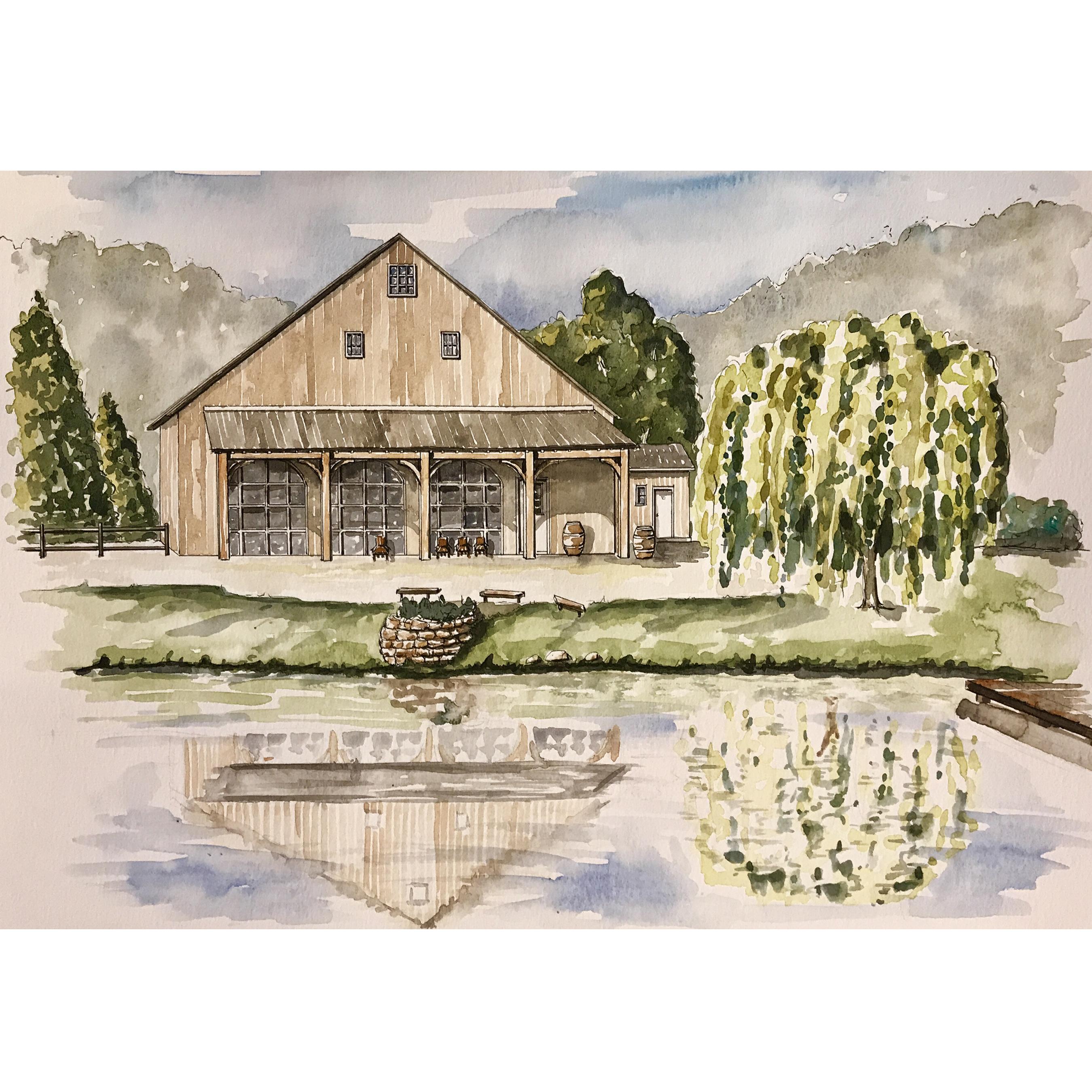 Watercolor Venue Portrait
