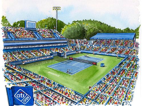 Citi Open Tennis Tournament Watercolor Print or Greeting Card