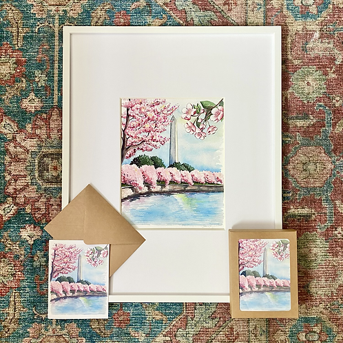 Peak Bloom Watercolor Print or Greeting Card