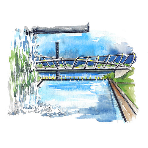 Yards DC Giclee Watercolor Print or Greeting Card