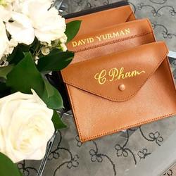Personalized Genuine Leather Clutch