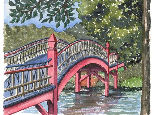 William & Mary Crim Dell Watercolor Print