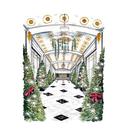 The Mayflower Hotel Promenade Giclee Print or Greeting Card