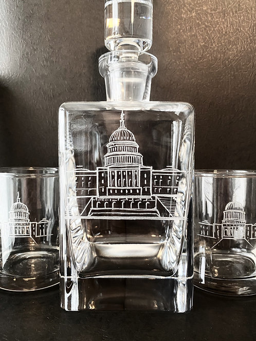 Engraved Decanters and Glasses