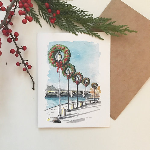 Georgetown Waterfront Holiday Greeting Card