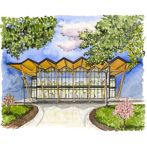 Southwest Library Watercolor Print or Greeting Card