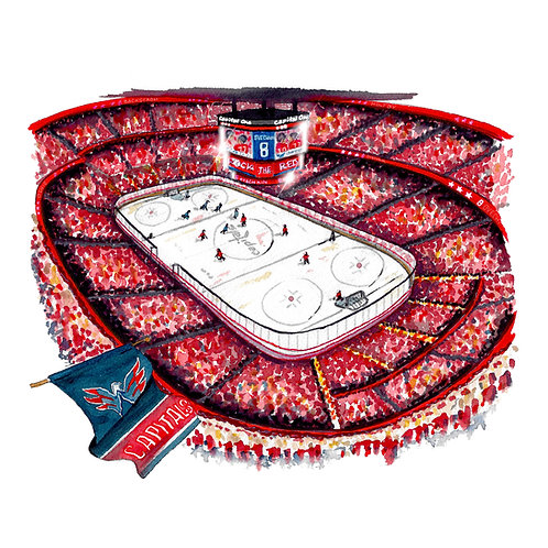 Washington Capitals Giclee Print or Greeting Card