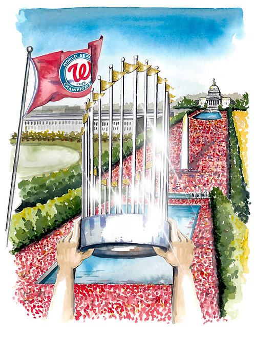 Commemorative Nats Giclee Print or Greeting Card