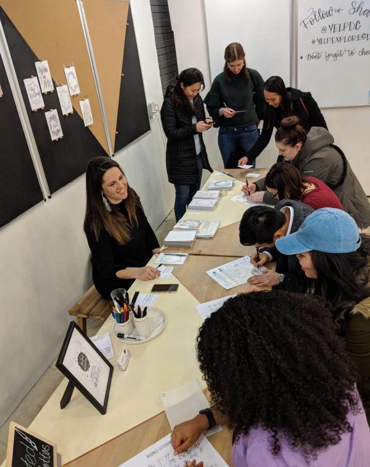 Mini Workshops and Lettered Prints