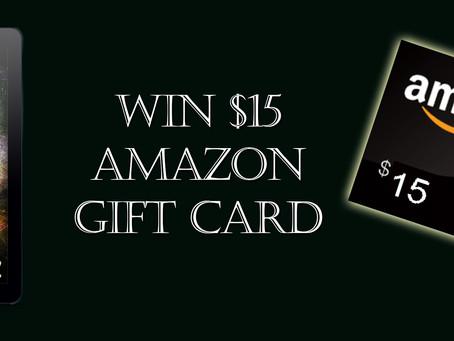 Win $15 Amazon Gift Card