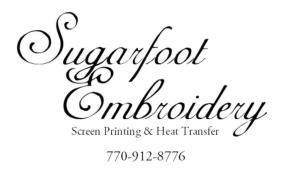 Sugarfoot Embroidery