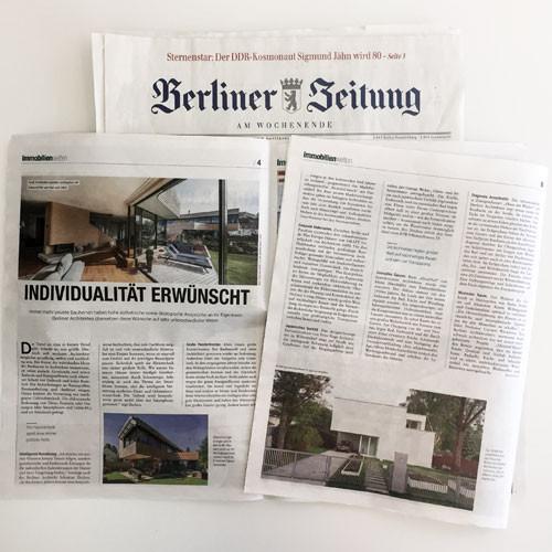 """""""INDIVIDUALITÄT ERWÜNSCHT""""  Artikel in der Berliner Zeitung"""