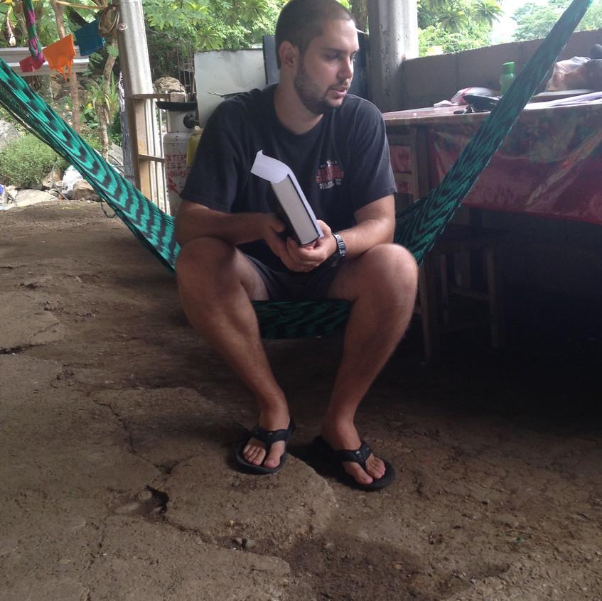 Garrett leading Bible Study