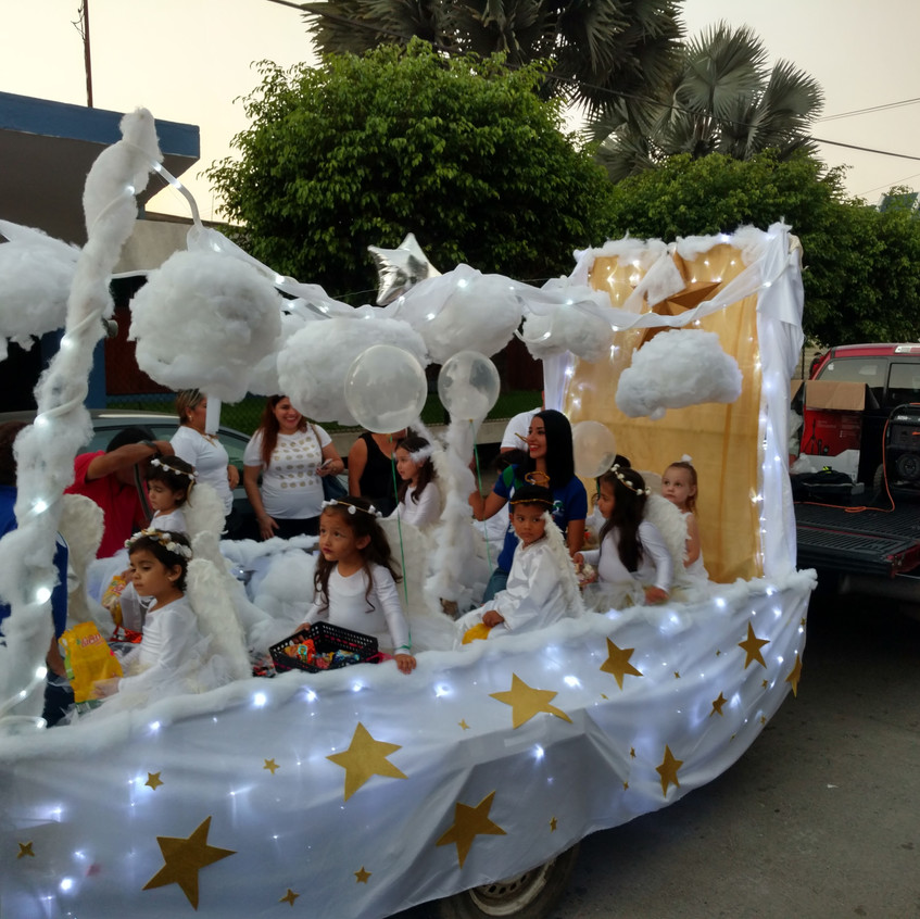Hope's class in a parade.