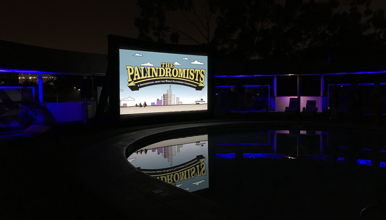 Movie Premiere Out By The POOL!