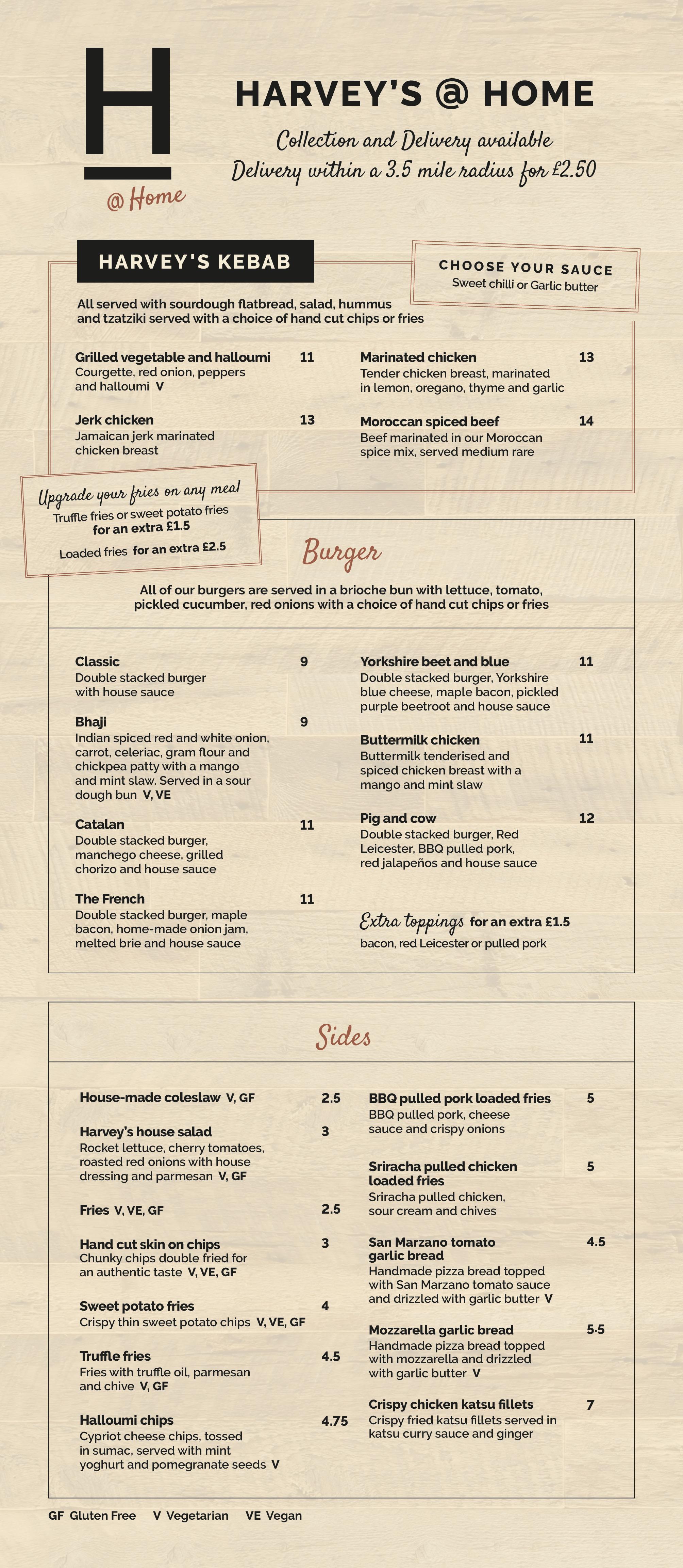 Takeaway menu 20/21
