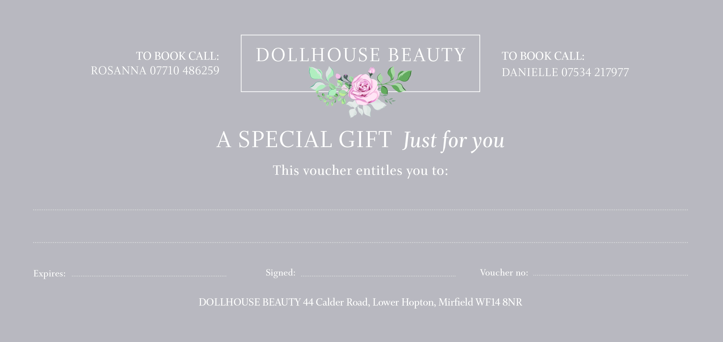 Dollhouse voucher